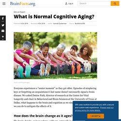 What is Normal Cognitive Aging?