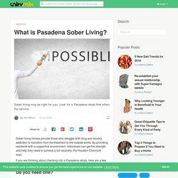 Pasadena Sober Living