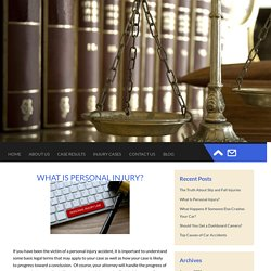 What Is Personal Injury?