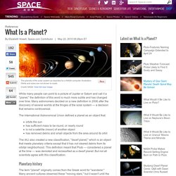 What Is a Planet?