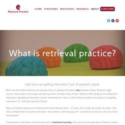 What is retrieval practice? — Retrieval Practice