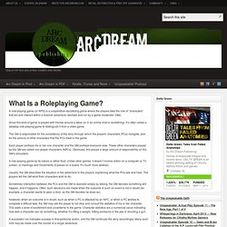 What Is a Roleplaying Game?