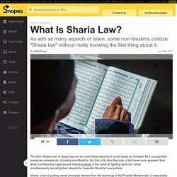What Is Sharia Law?