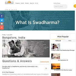 What Is Swadharma?