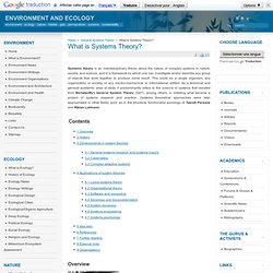 What is Systems Theory?