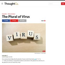 What Is the Plural of Virus?
