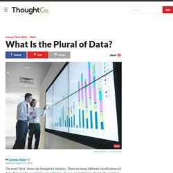 """What Is the Plural of the Word """"Data""""?"""