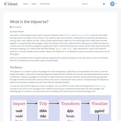 What is the tidyverse?