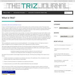 What Is TRIZ?The Triz Journal