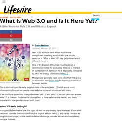 What Is Web 3.0 and Is It Here Yet?