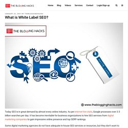 What is White Label SEO? -
