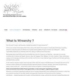 What Is Wirearchy ? - Wirearchy