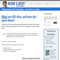 What are iso files, and how do I open them?