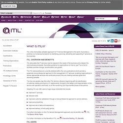 ITIL® - What is ITIL?