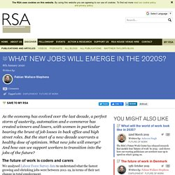 What new jobs will emerge in the 2020s?