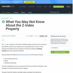 What You May Not Know About the Z-Index Property