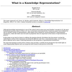 What is a Knowledge Representation?
