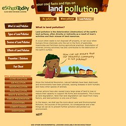 What is Land Pollution for children