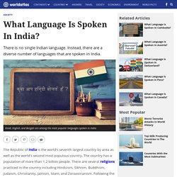 What Language Is Spoken in India?