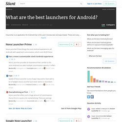 What are the best launchers for Android?