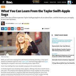 What You Can Learn From the Taylor Swift-Apple Saga