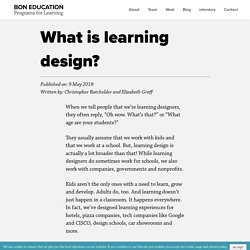 What is Learning Design? - Bon Education - Medium