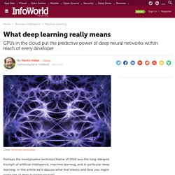 What deep learning really means