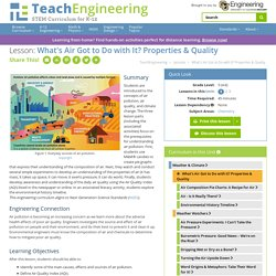 What's Air Got to Do with It? - Lesson - www.teachengineering.org