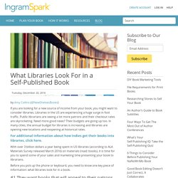 What Libraries Look For in a Self-Published Book