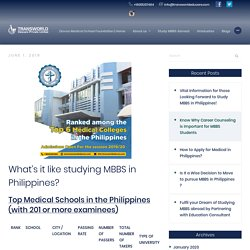 What's it like studying MBBS in Philippines?
