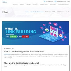 Link Building And Its Pros & Cons
