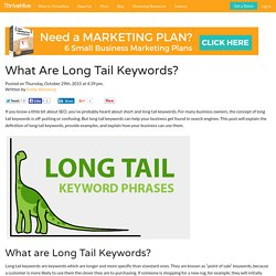 What Are Long Tail Keywords?