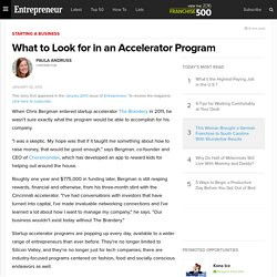 What to Look for in an Accelerator Program
