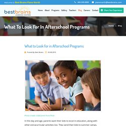 What to Look for in Afterschool Programs