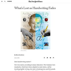 What's Lost as Handwriting Fades