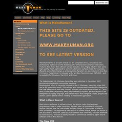 What is MakeHuman? - MakeHuman Docs