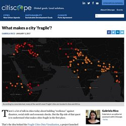What makes a city 'fragile'?