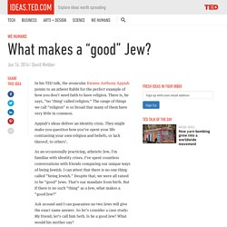 """What makes a """"good Jew""""?"""