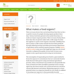 What makes a food organic?