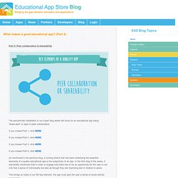 What makes a good educational app? (Part 5)