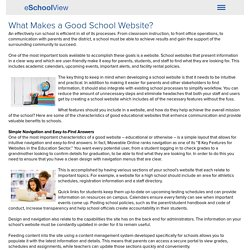What Makes a Good School Website?