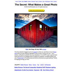 What Makes a Great Photograph
