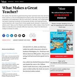 What Makes a Great Teacher? - Amanda Ripley