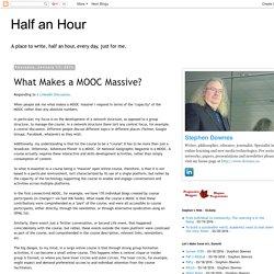 What Makes a MOOC Massive?