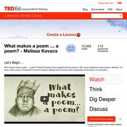 What makes a poem … a poem? - Melissa Kovacs