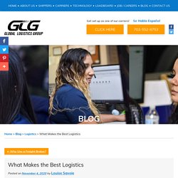 What Makes the Best Logistics