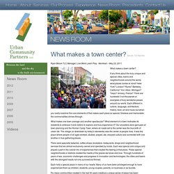What makes a town center?