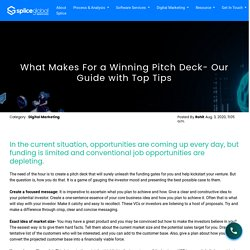 What Makes For A Winning Pitch Deck- Our Guide with Top Tips