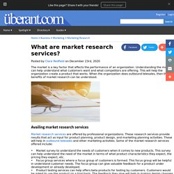 What are market research services?