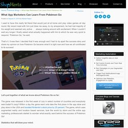 What App Marketers Can Learn from Pokémon Go